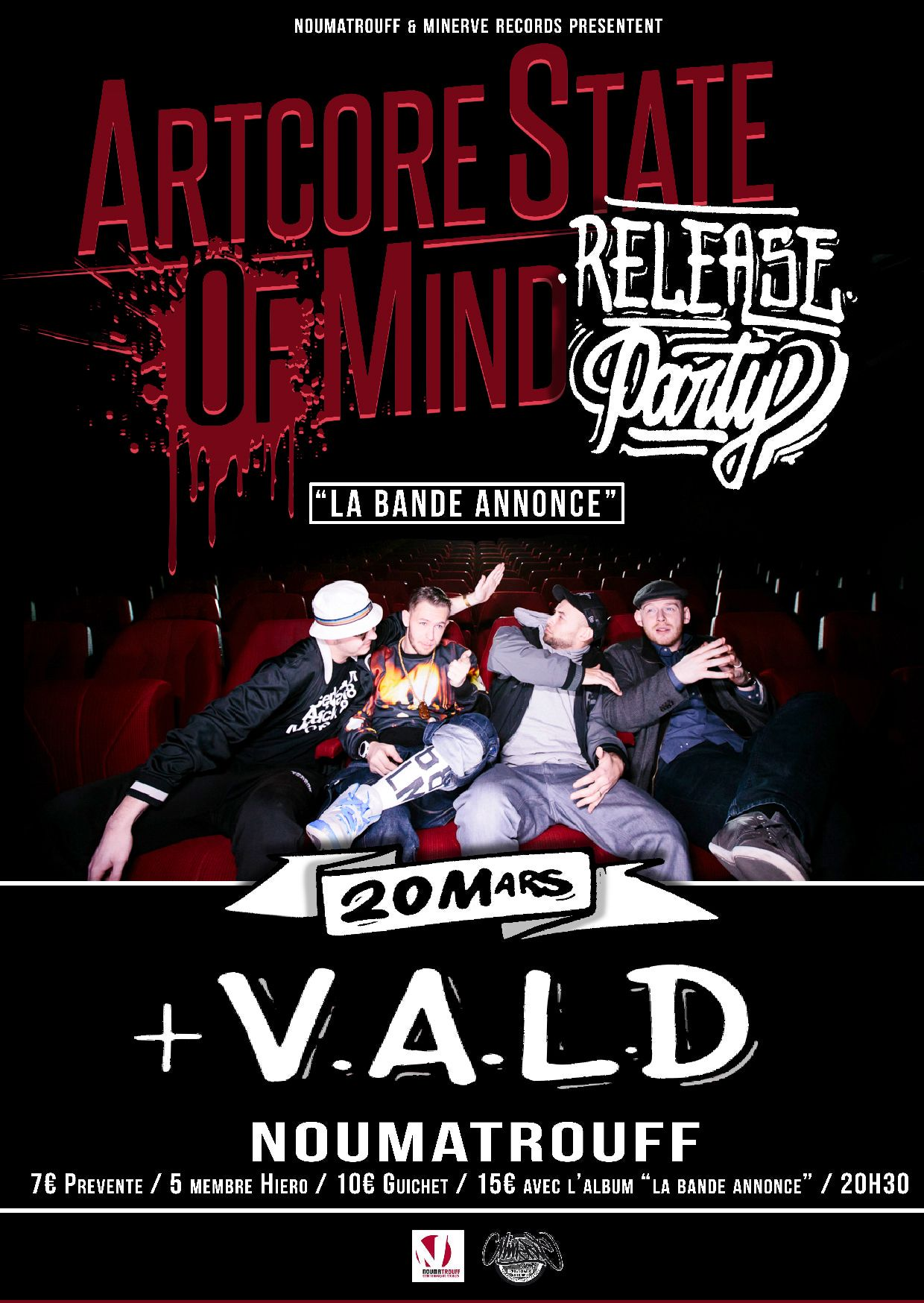flyer asom vald release party