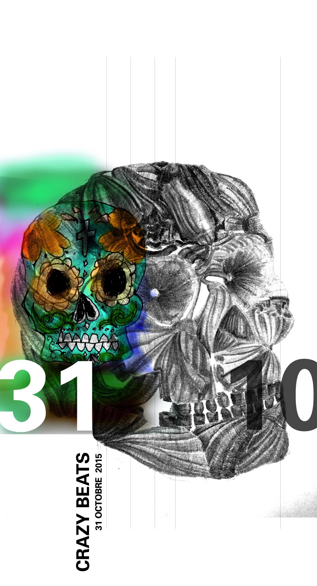 graphisme Crazy beats pour insertion nouma